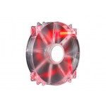 Cooler FAN 200mm CoolerMaster Megaflow 200 Red LED Silent R4-LUS-07AR-GP Imagem 01