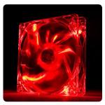 Cooler FAN 120mm Thermaltake Pure LED Vermelho CL-F013-PL12RE-A Imagem 01