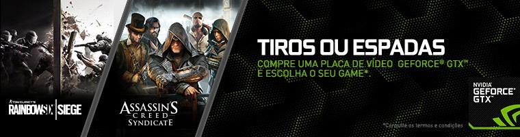 Banner Promoção Nvidia Tiros ou Espadas